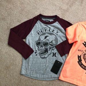 Hurley Shirts & Tops - Boys size 5 Hurley Shirts NWT